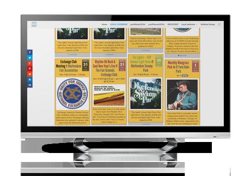 community events calendar for Waycross Ware County sample website design by serva